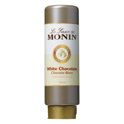 Monin White Chocolate Sauce x 500ml (4438113386584)