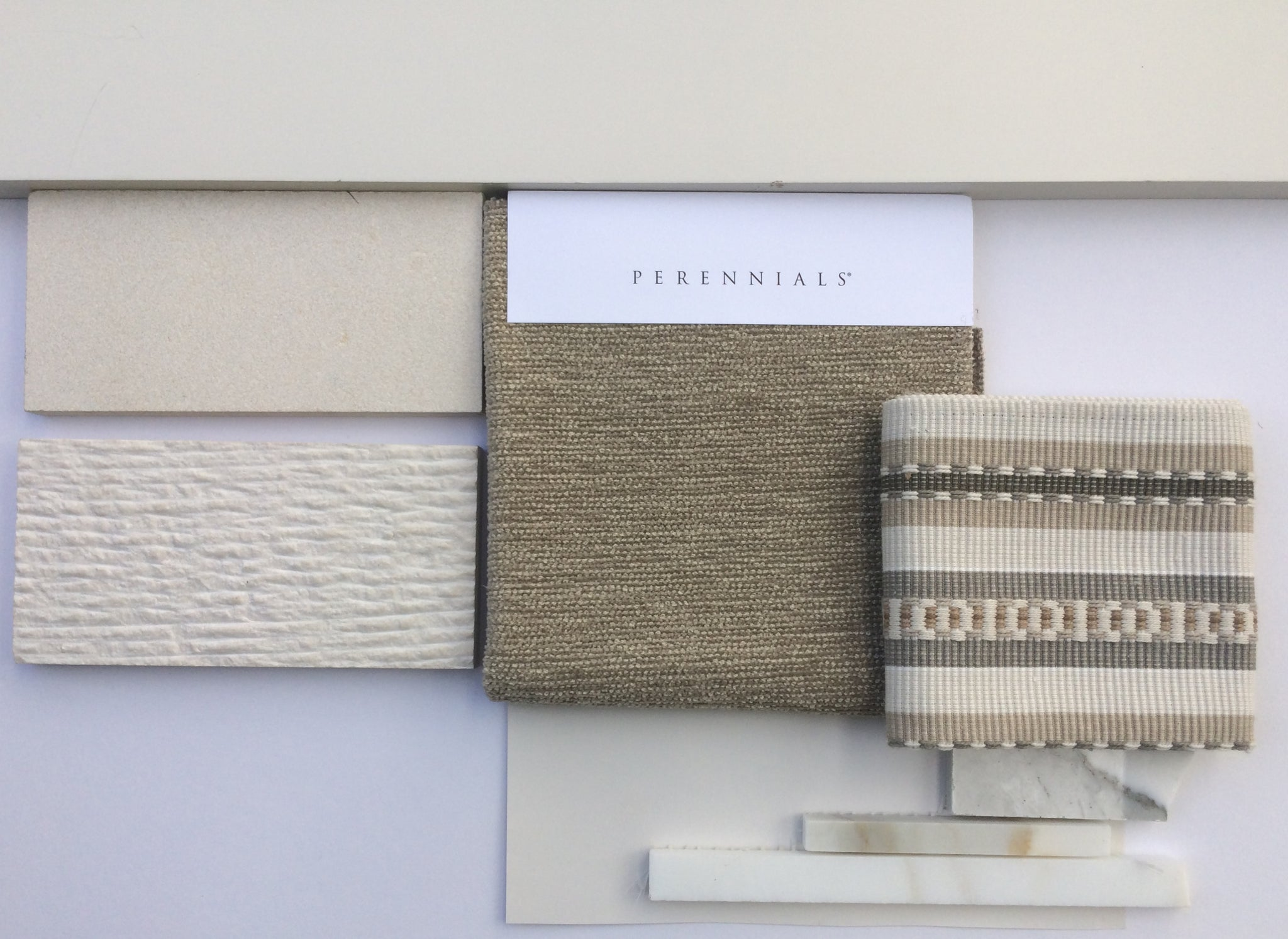 Materials Board for Modern Banquette