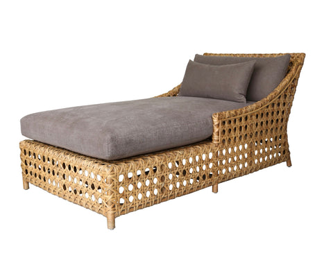cane style canvas daybed