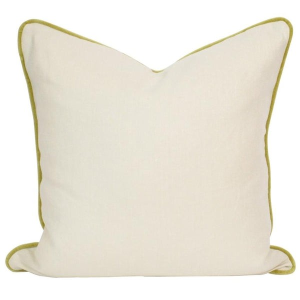 Cream & Avocado Pillow No. 6