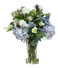 Flowers: Blue & Green Mixed