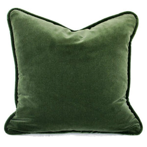 Green Velvet Pillow with Down 25% Feather 75%