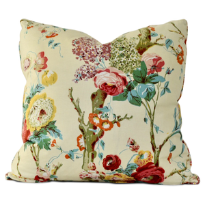 throw pillow in trentham hall print