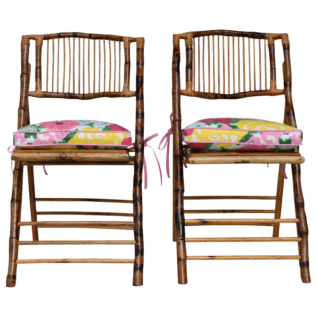 Lilly Cushion On Bamboo Chair Dixie Amp Grace