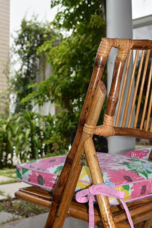garden patio bamboo chair with Lilly cushion