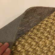 felt and rubber padding for sisal area rug