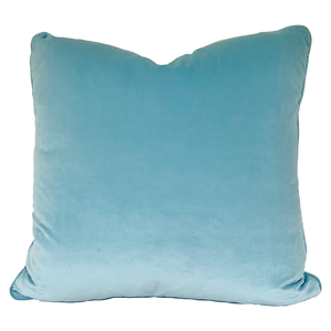 Light Blue Velvet Pillow No. 38