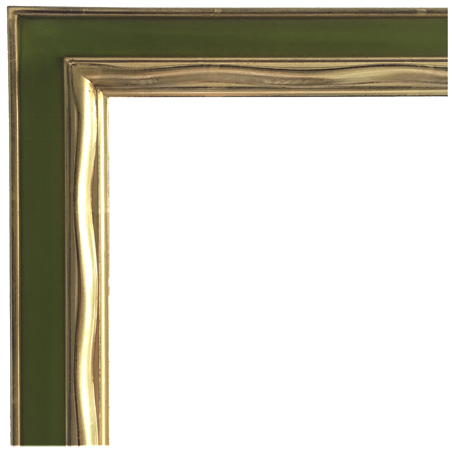 Dixie & Grace: Picasso Hand Carved Gold Gilded Mirror [Avocado Green]