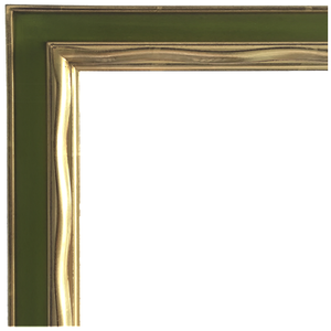 Picasso Hand Carved Gold Gilded Mirror [Avocado Green]