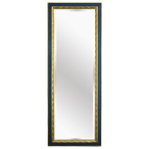 Picasso Handcarved Gold Gilded Mirror [Royal Blue]