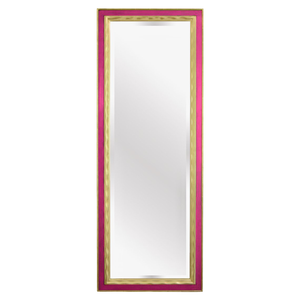 Picasso Hand Carved Gold Gilded Mirror [Hibiscus Pink]