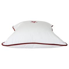 Pillow: No 16 White with Red Star
