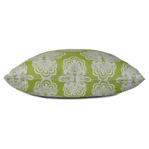 lilly pulitzer shell we pattern in lime green on throw pillow