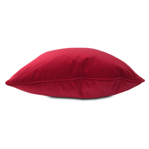 throw pillow in Red Velvet fabric
