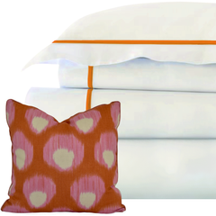 Bed Linen Set: Coral (1) with Pillow