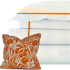 Bed Linen Set: Coral (2) with Pillow