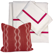 Bed Linen Set: Scarlet Red with Pillow