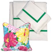 Bed Linen Set: Kelly Green with Pillow