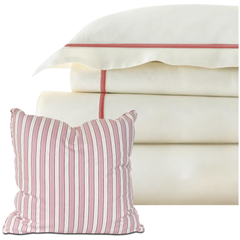 Bed Linen Set: Pale Pink with Pillow