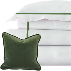 Promo: Bed Linen Set Narragansett Green with FREE Pillow