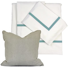 Bed Linen Set: Sea Green with Pillow