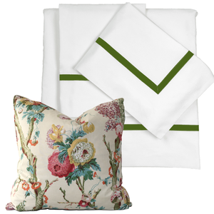 Promo: Bed Linen Set Basil with FREE Pillow