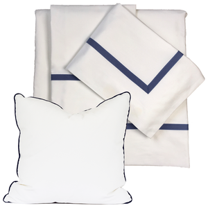 Promo: Bed Linen Set Navy with FREE Pillow