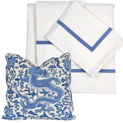 Bed Linen Set: Cobalt Blue (1) with Pillow