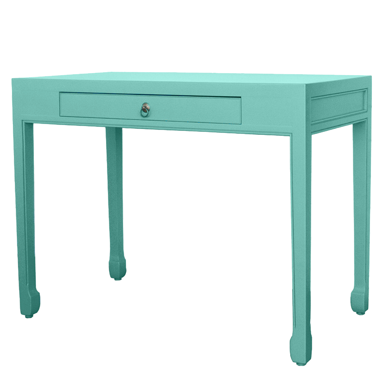 Inside A Tiny Florida Cottage Full Of Tropical Colors: Dixie & Grace: Double Happiness Small Writing Desk