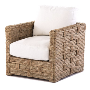 hand woven palm rope chair