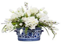 faux mixed white flowers
