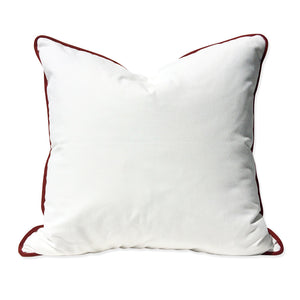 White with Red Trim Pillow No. 29