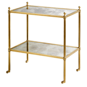 Side Table: Portman Mirrored Etagere