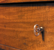 detail of drawer on directoire console