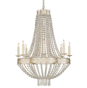 Chiara Chandelier with strands of faceted crystals