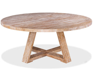 prairie dining table in sandblasted oak