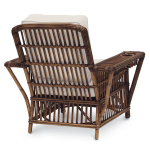 Backside of the rattan Presidential Chair