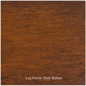 wood finish for legs of dining chair