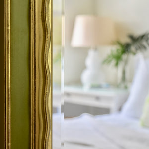 Picasso Handcarved Gold Gilded Mirror [Avocado Green]