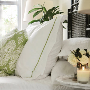 throw pillow with luxury bed linen set
