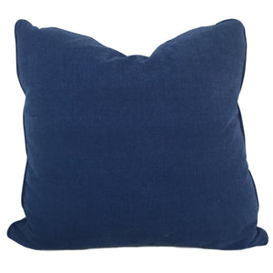 throw pillow in blue denim fabric