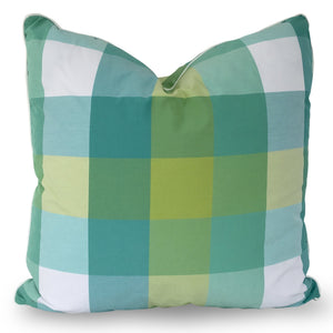 Palm Beach Plaid Pillow No. 20