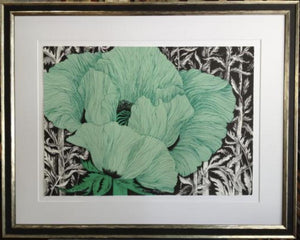 fine art print green poppy