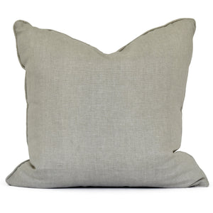 throw pillow in natural linen