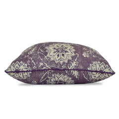 lavender floral print throw pillow