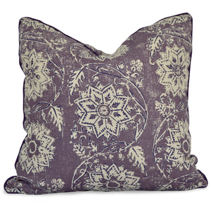throw pillow with lavender floral print