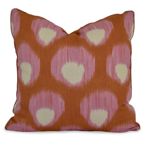 orange and pink throw pillow