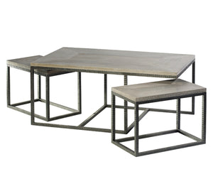 separated nesting cocktail tables