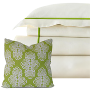 Bed Linen Set: Parrot Green (1) with Pillow
