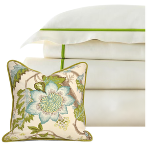 Promo: Bed Linen Set Parrot Green (2) with FREE Pillow